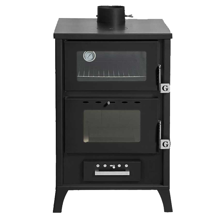 GEKAS GREECE Wood Stove with Oven MG 500 Black