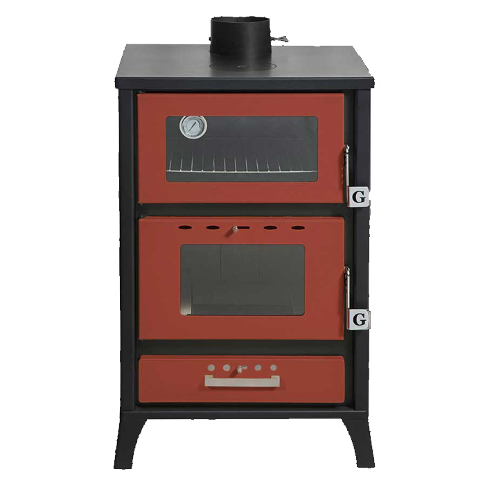 GEKAS GREECE Wood Stove with Oven MG 500 Red