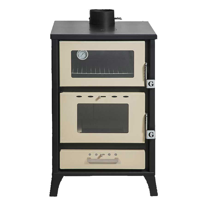 GEKAS GREECE Wood Stove with Oven MG 500 Beige