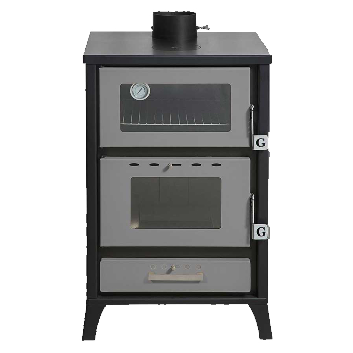 GEKAS GREECE Wood Stove with Oven MG 500 Silver