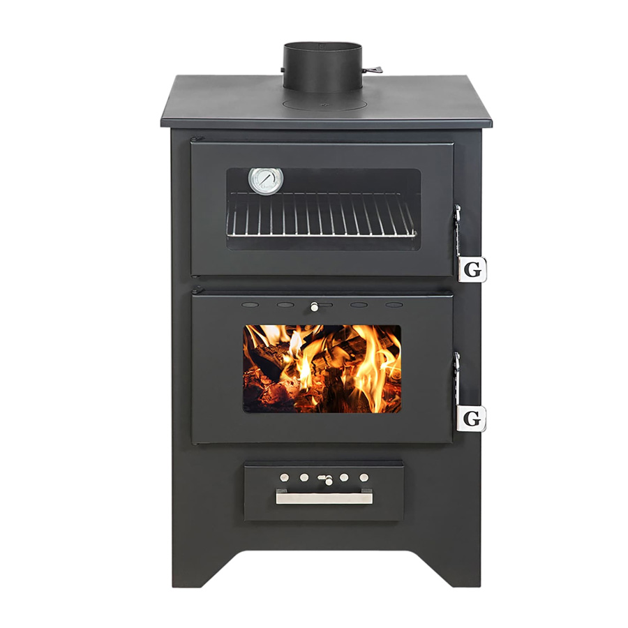 GEKAS GREECE Wood Stove with Oven MG 450