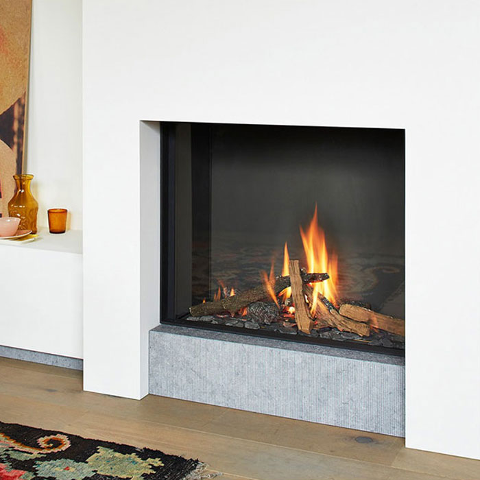 LINEAFIRE UK Gas Fireplace Square 80