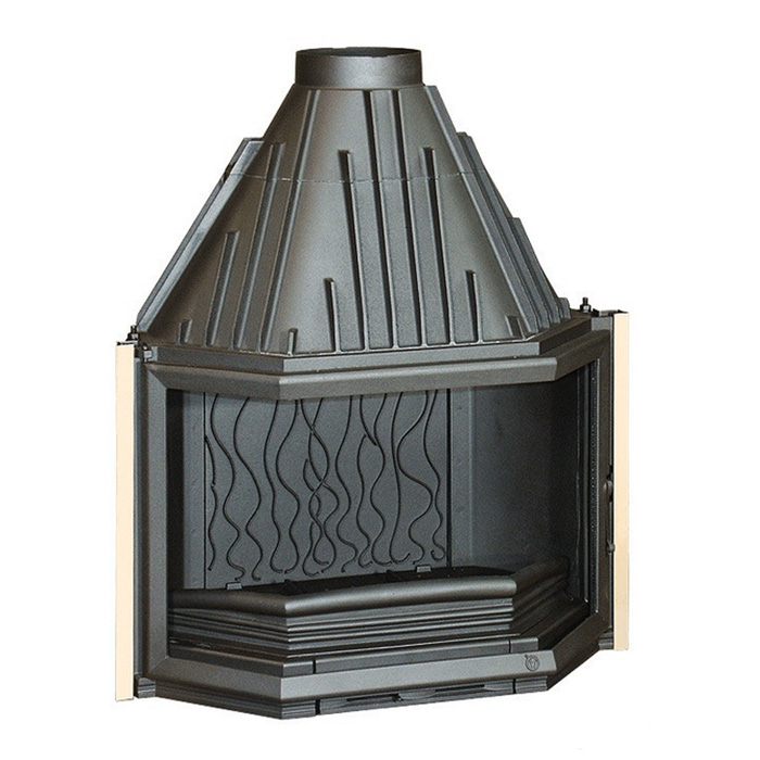 INVICTA FRANCE Wood Fireplace Prismatic 85 Lateral