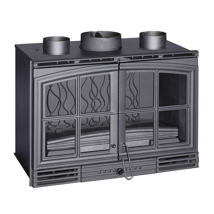 INVICTA FRANCE Wood Fireplace Turbo Double doors 80 Lateral