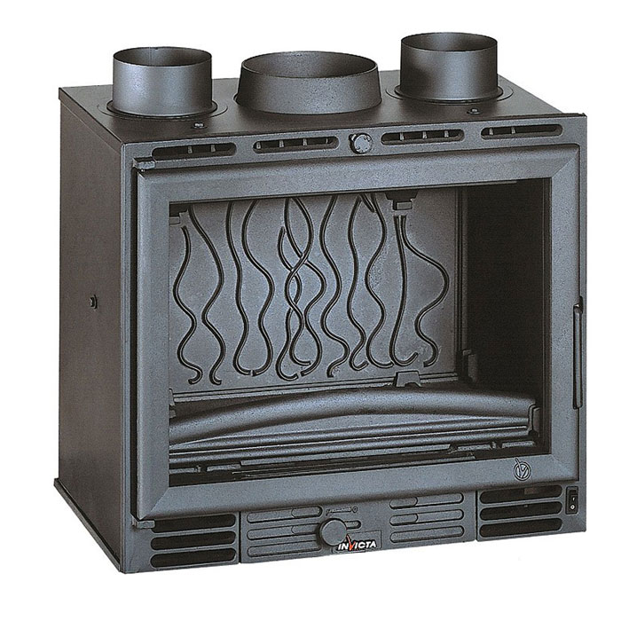 INVICTA FRANCE Wood Fireplace Turbo 60 Lateral