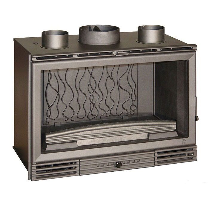 INVICTA FRANCE Wood Fireplace Turbo Grand Vision 80 Lateral