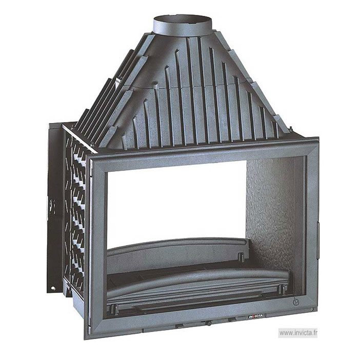 INVICTA FRANCE Wood Fireplace Tunnel 80 Lateral