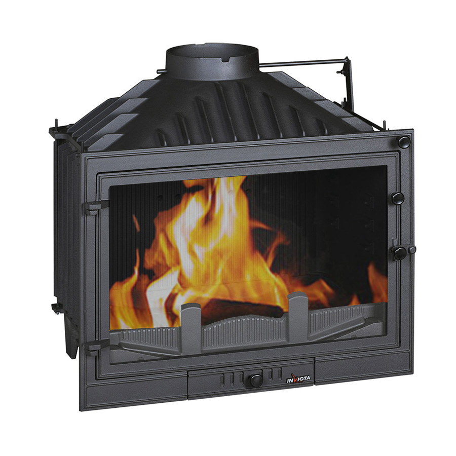 INVICTA FRANCE Wood Fireplace 70 Promo with Air Intake Lateral