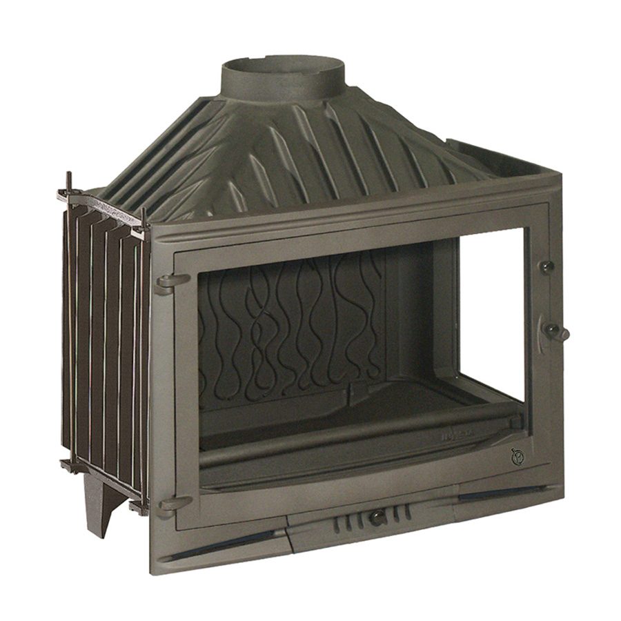INVICTA FRANCE Wood Fireplace Corner Right 70 Selenic Lateral