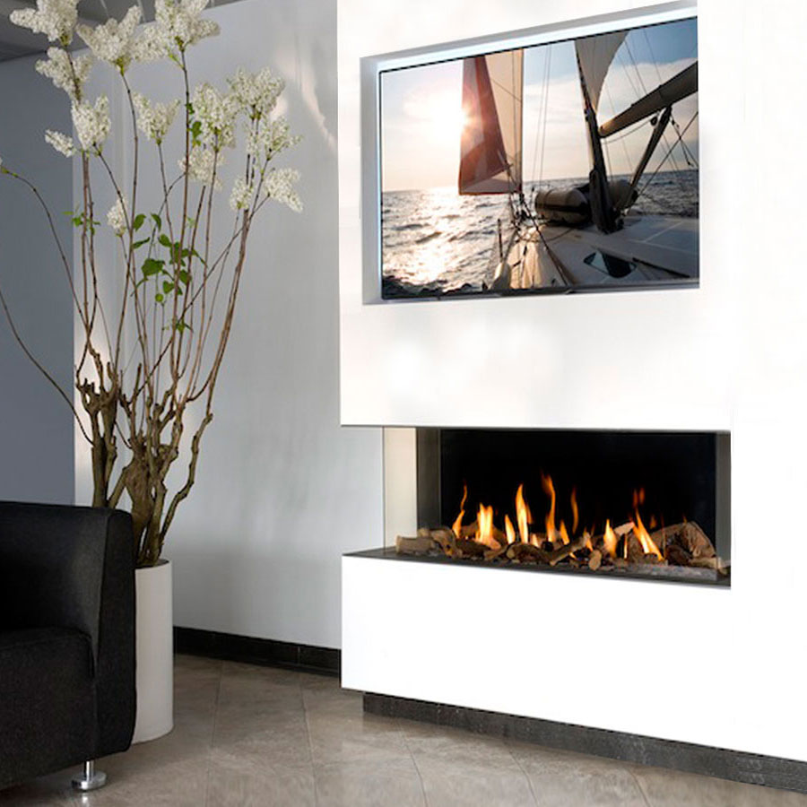 KRATKI POLAND Gas Fireplace Corner Left 100