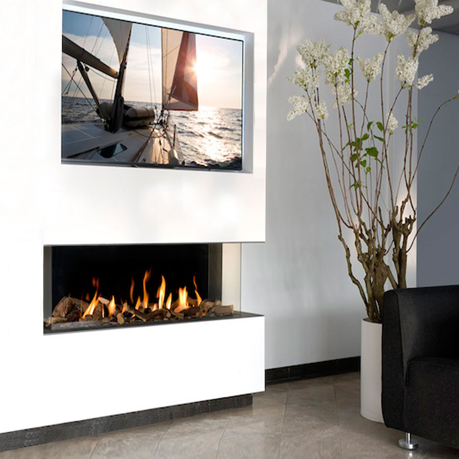 KRATKI POLAND Gas Fireplace Corner Right 100
