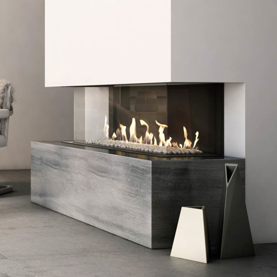 KRATKI POLAND Gas Fireplace 3-Sided 100