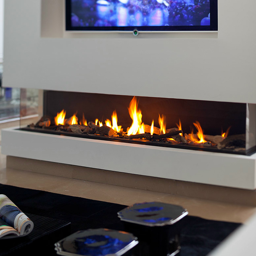 KRATKI POLAND Gas Fireplace 3-Sided 200