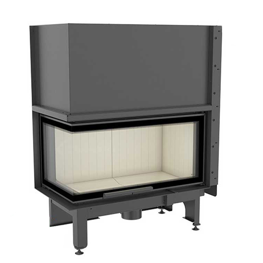 KRATKI POLAND Wood Fireplace Corner Left Nadia 14 Raisable