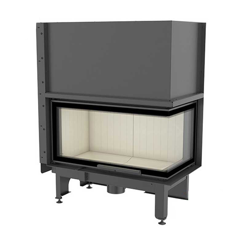 KRATKI POLAND Wood Fireplace Corner Right Nadia 14 Raisable