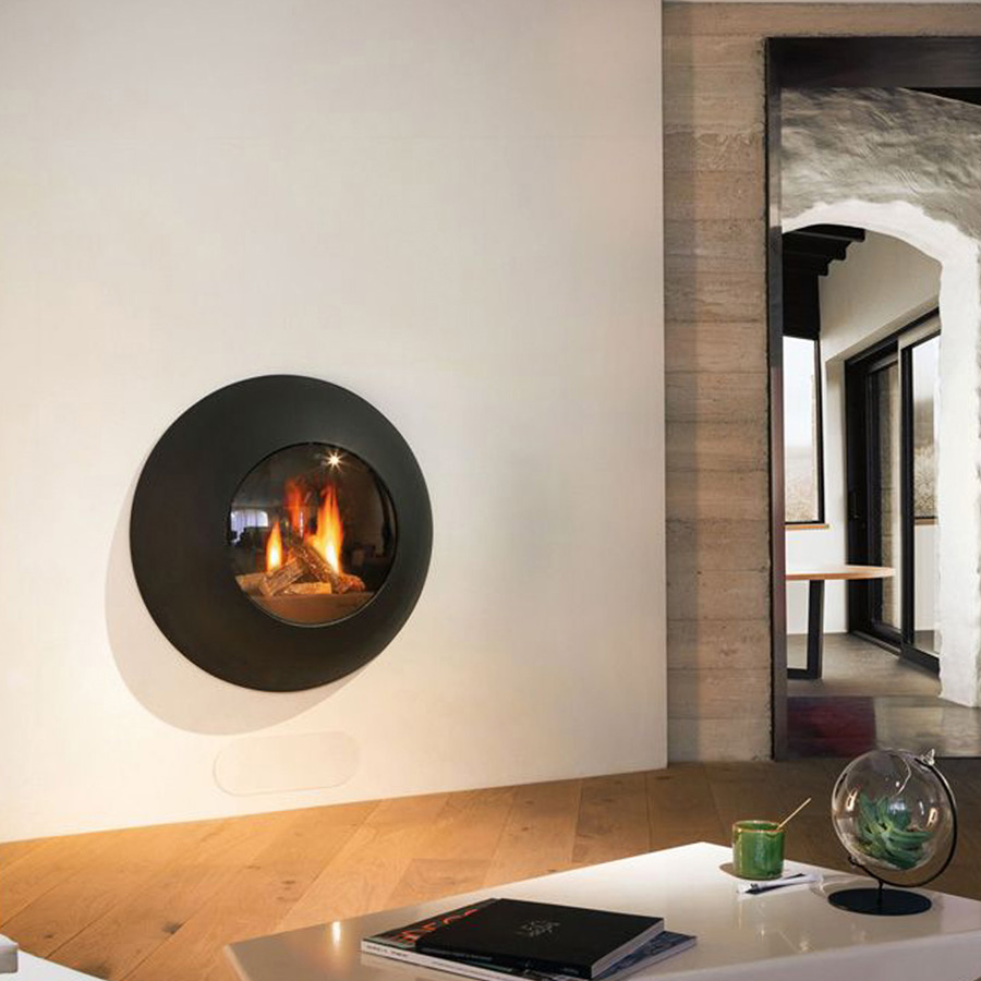 Gas Fire Frontal Lensfocus Black