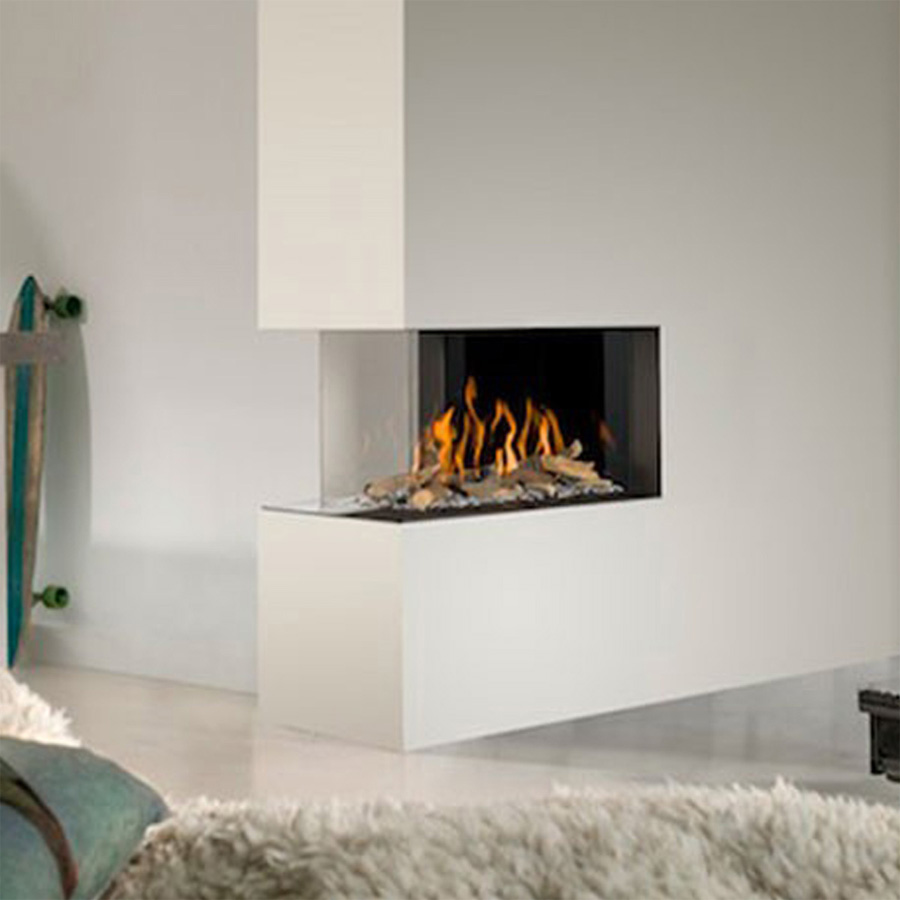 LINEAFIRE UK Gas Fireplace Room Divider 75