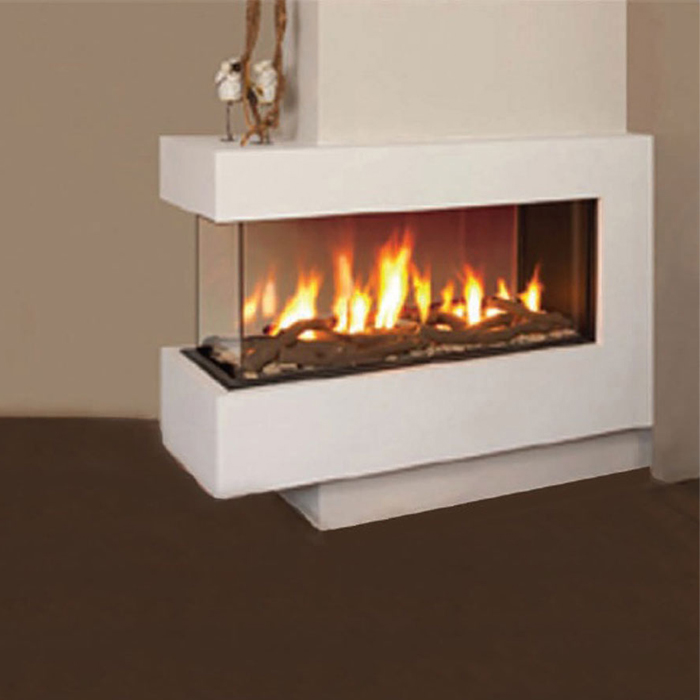 LINEAFIRE UK Gas Fireplace Room Divider 140