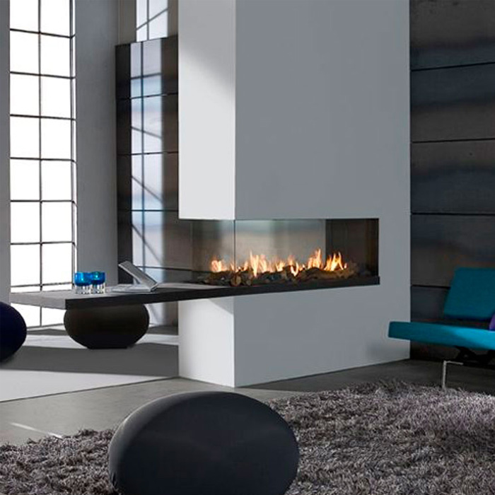 LINEAFIRE UK Gas Fireplace Room Divider 110