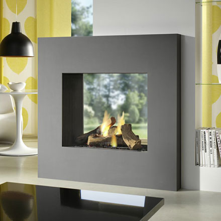 LINEAFIRE Gas Fireplace Tunnel Square 80