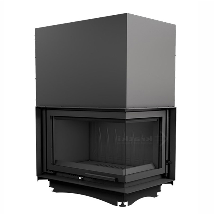 KRATKI POLAND Wood Fireplace Corner Right Oliwia 18 Kw Raisable