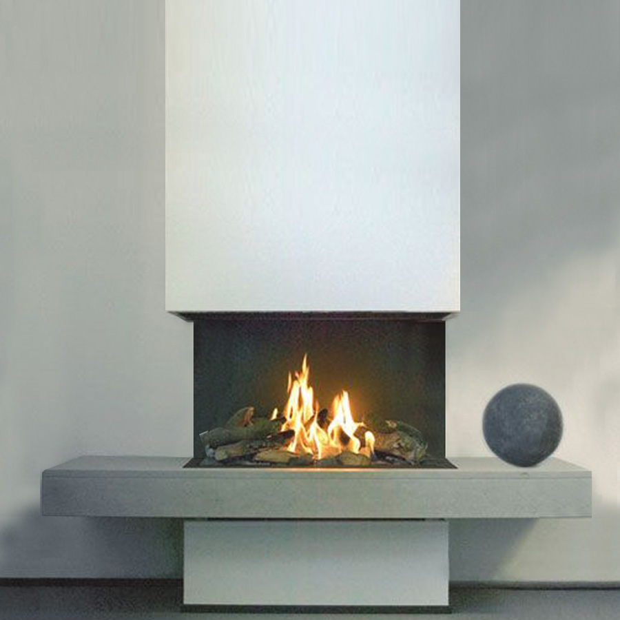 Open Firebox 3 sided 80 cm