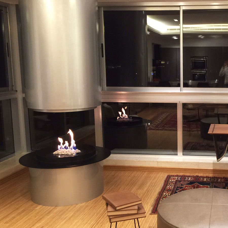 TRAFORART SPAIN Gas Fireplace Central Diamante Project