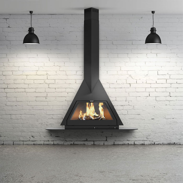 TRAFORART SPAIN Wood Fireplace Frontal Foxi Negro